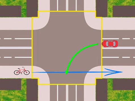 Общественники предложили запретить велосипедистам проезжать перекресток без остановки