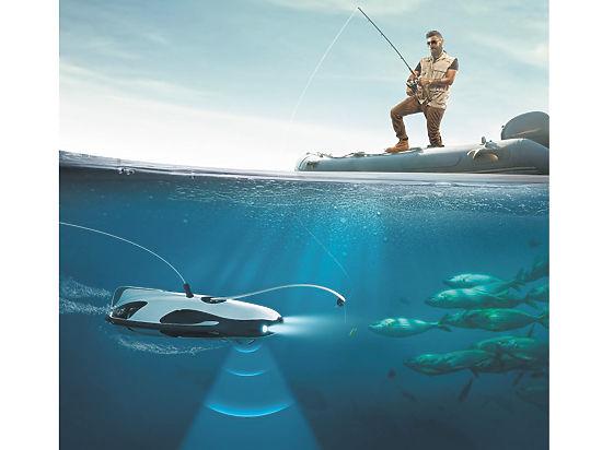 Изобретен подводный дрон для помощи на рыбалке