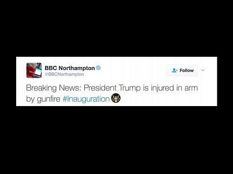 Twitter канала ВВС сказал о том, что Трампу прострелили руку