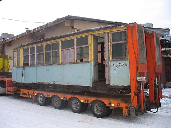 В столицу прибыл ретро-трамвай из блокадного Ленинграда