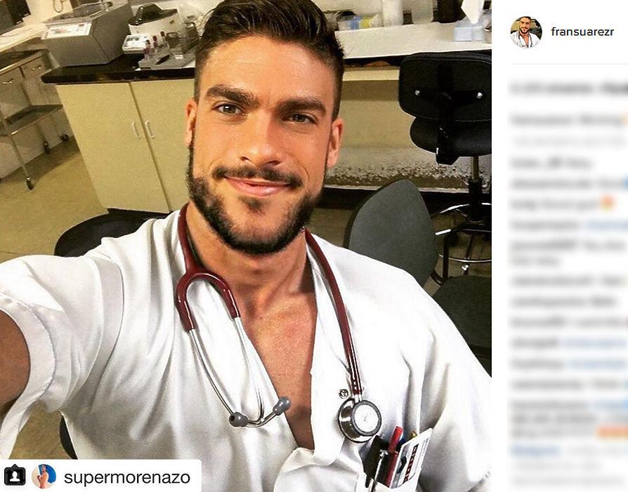 Работающий медбратом в одной из клиник Мадрида Френ Суарез назван самым привлекательным представителем своей профессии