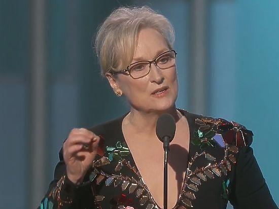 Артистка Мэрил Стрип прокомментировала обвинения Трампа о ее «переоцененности»