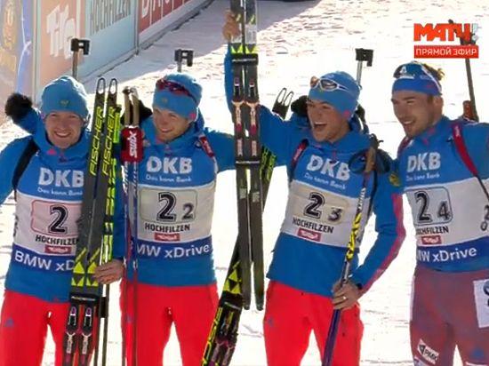 Русские биатлонисты завоевали золото вэстафете начемпионате мира вАвстрии