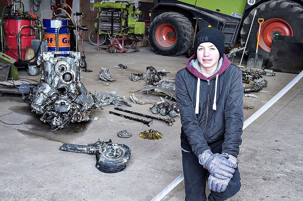 ВДании школьник откопал германский самолет, выполняя домашнее задание