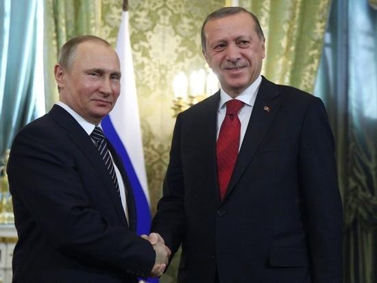 Эрдоган на встрече с Путиным назвал его «дорогим другом»