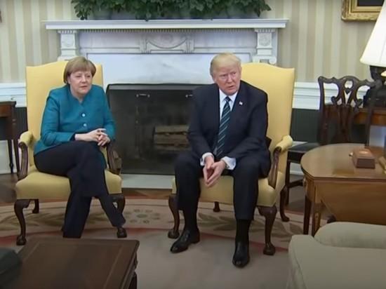 """Трамп потребовал от Меркель """"огромных денег"""" за обеспечение безопасности"""