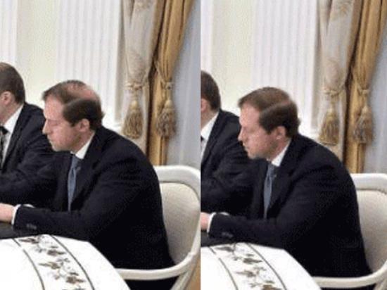Попытку скрыть лысину министра Мантурова пресс-служба объяснила ошибкой