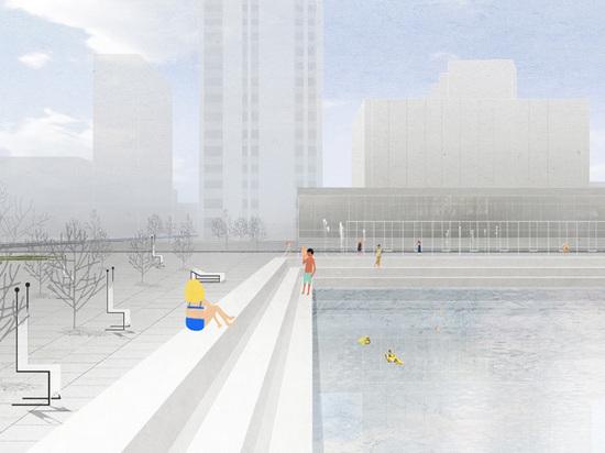 В Москве планируют открыть уличный бассейн