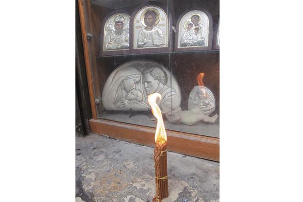 Мария Захарова получила благословение Благодатным огнем
