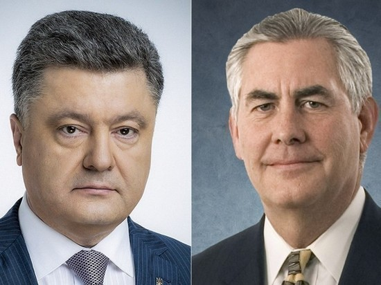 Тиллерсон обсудил с Порошенко Донбасс и свой визит в Москву