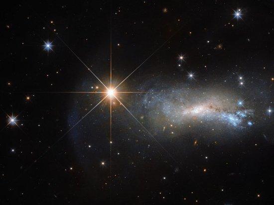 В интернет попал красивый снимок звезды, затмившей галактику