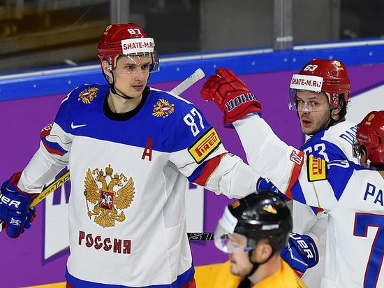 Россия - Дания: онлайн-трансляция матча ЧМ-2017 по хоккею