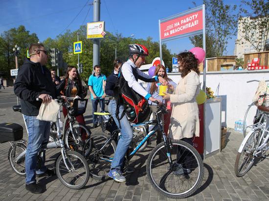 В столице прошла акция «На работу на велосипеде»
