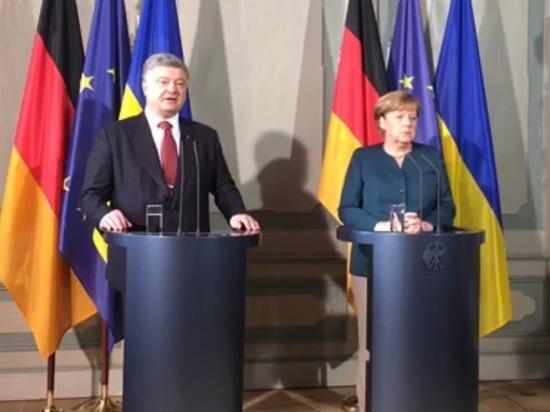 Меркель рассказала Порошенко о войне в Донбассе