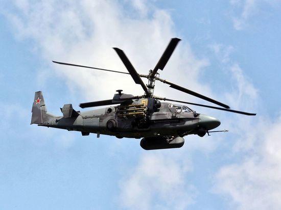 Появилось видео охоты Ка-52 за техникой террористов в Сирии