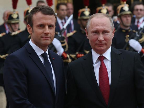 Макрон высказался завзаимодействие сРоссией поСирии