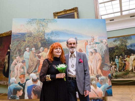 На подаренной Третьяковке картине Булатова был изображен сам художник