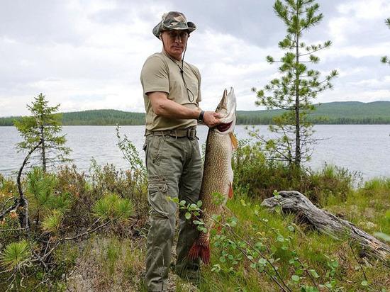 Путин поведал, что водин прекрасный момент поймал 20-килограммовую рыбу