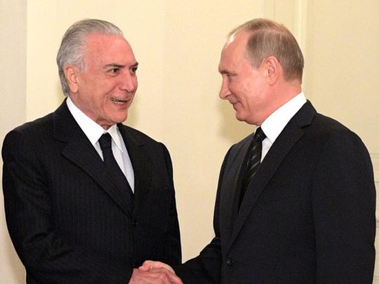 Визит Темера: Россия встречает бразильского президента с подмоченной репутацией