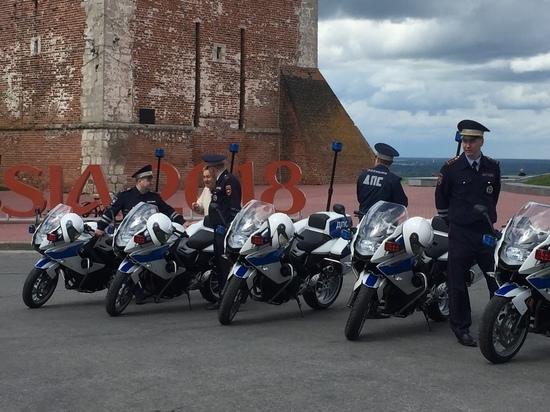 Полиция Нижегородской области получила новые автомобили и мотоциклы