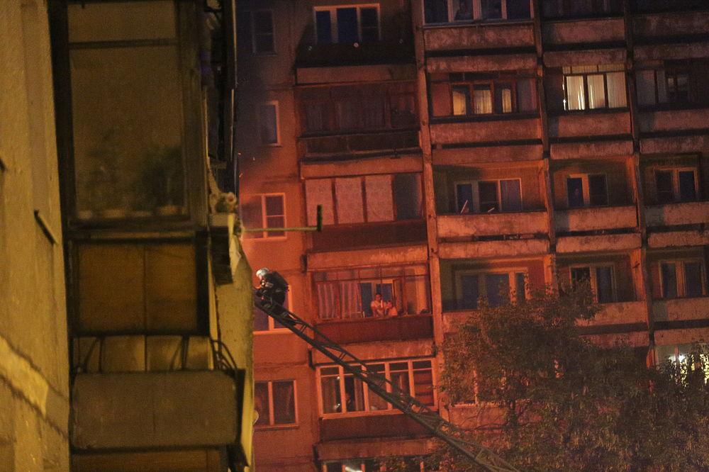 Пожар на улице Акимова 29 июня 2017 года