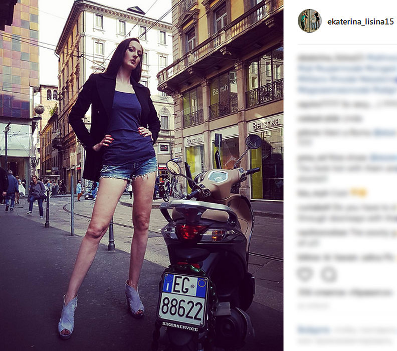 Русская баскетболистка решила стать самой высокой моделью вмире