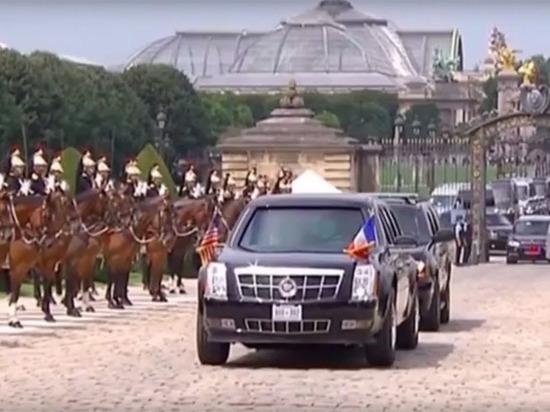 Трампа радушно приняли в Париже, закрыв ради него Эйфелеву башню