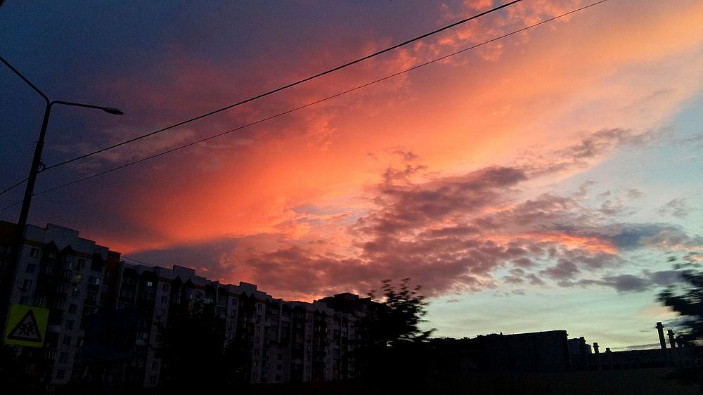 Шикарный закат в Тамбове