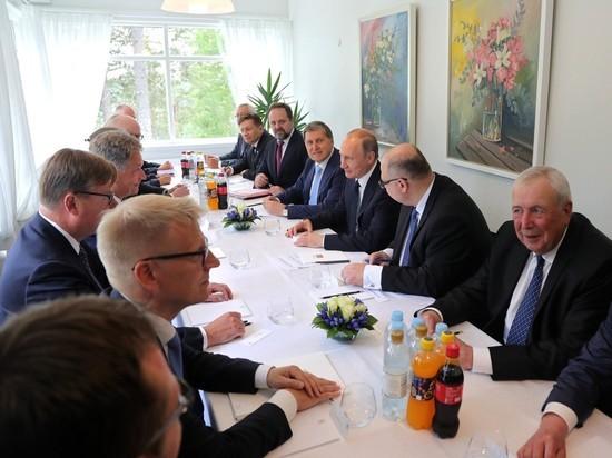 Путин отметил в Финляндии День сони