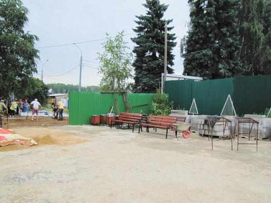 Огород жителя Красногорска закатали в бетон