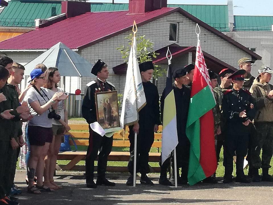 В Смоленске состоялось открытие российско-белорусского слета казачьей молодежи