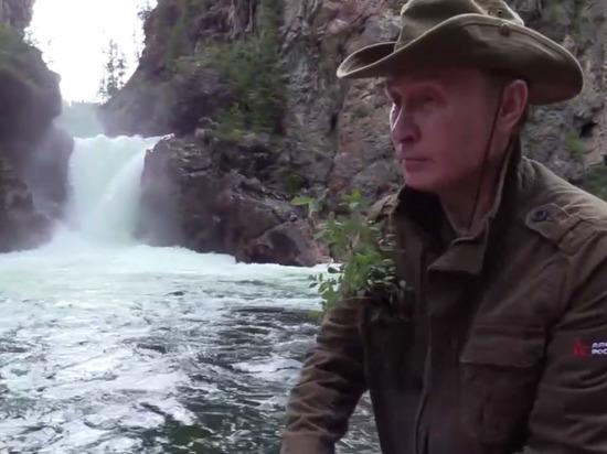 Путин в Сибири сидел на подножном корму и щучьих котлетках