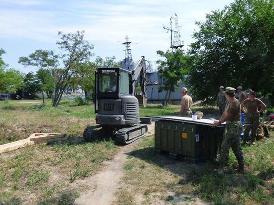 Американские военные начали возводить морскую базу на Украине
