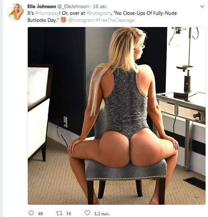 Инстаграм известной фотомодели Элль Джонсон был заблокирован администрацией сервиса за слишком откровенные снимки.
