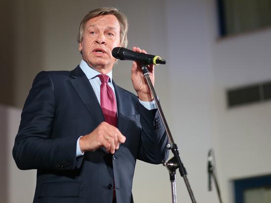 Пушков язвительно прокомментировал слова Порошенко по Крыму
