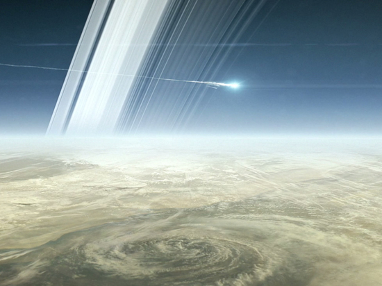 Станция Кассини сгорела без следа в атмосфере Сатурна
