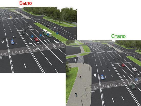 Выделенная полоска  появится наразвязке Боровского шоссе сМКАД