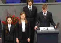 Настоящий бесчинство вызвало сообщение школьника изо МБОУ Гимназия Нового Уренгоя пред депутатами бундестага сообразно случаю Дня национального траура на Германии