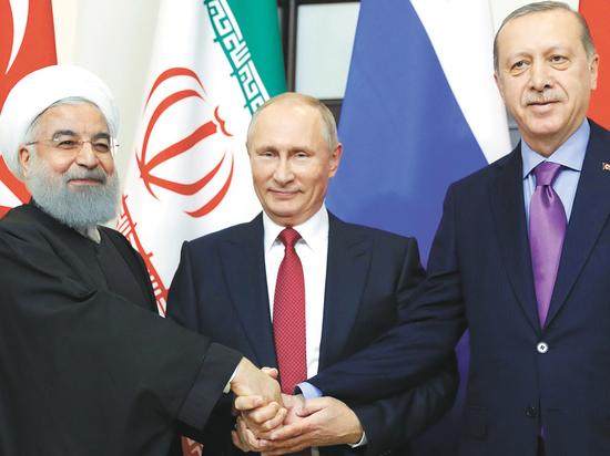 Встреча Путина с Эрдоганом и Роухани напомнила историческую Ялтинскую конференцию