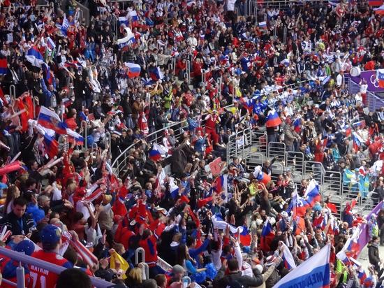 Триколор будет в Пхёнчхане: болельщикам не запрещали брать флаги России