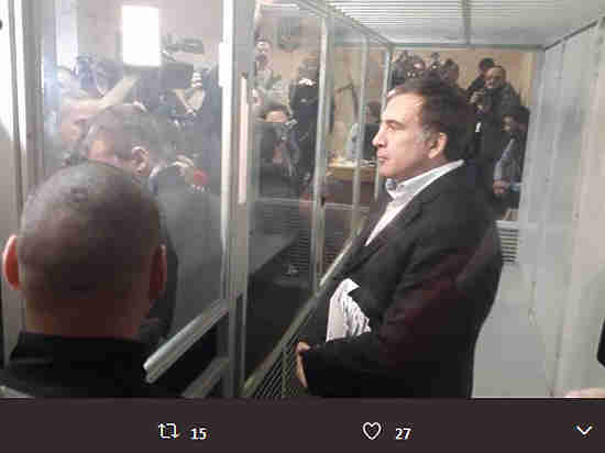 Саакашвили объявил себя военнопленным Путина и украинской власти