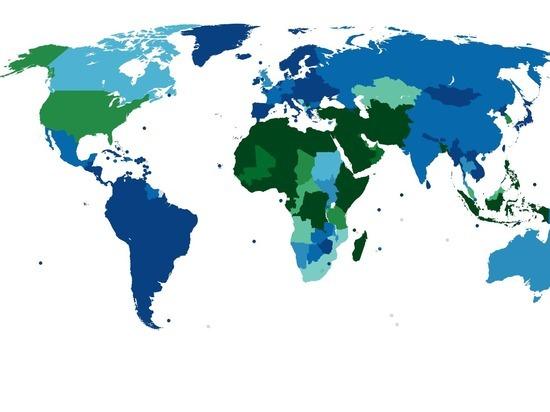 НаReddit опубликовали карту популярности мужского обрезания вмире