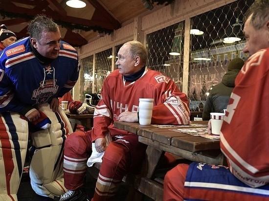 Путин, Шойгу иФетисов сыграли втоварищеском матче Ночной хоккейной лиги