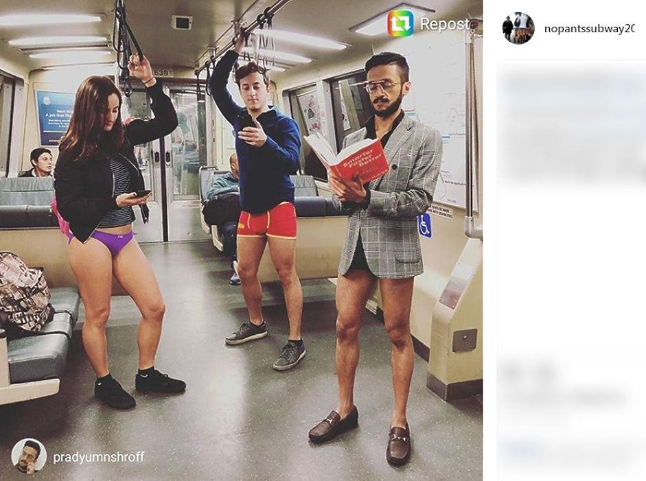 7 января в 16-й раз прошел всемирный флешмоб «В метро без штанов». Сотни людей в 25 странах мира в этот день спустились в подземку в одном белье. Акция впервые стартовала в 2002 году в Нью-Йорке, но быстро получила популярность на всем земном шаре.