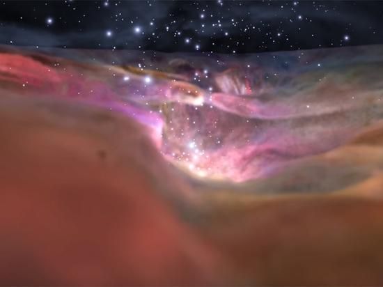 NASA показало изумительное  видео полета через  туманность Ориона