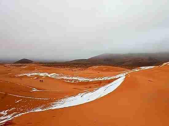 В Сахаре впервые за 30 лет дважды подряд выпал снег