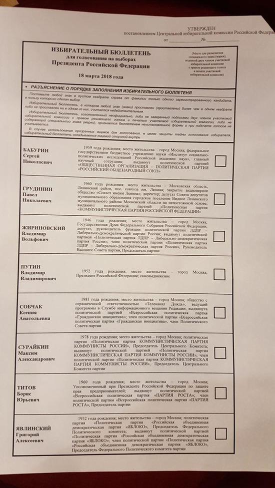Кандидатов в президенты выстроили в алфавитном порядке: кто недоволен