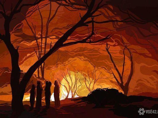11 человек тушили пожар в частном доме в Кузбассе