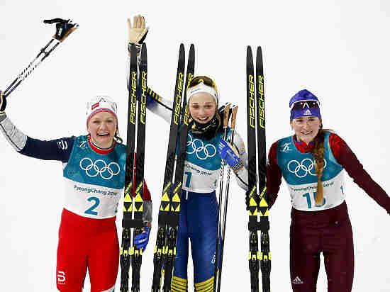 Российские лыжники Белорукова и Большунов завоевали две