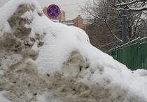 Экстремальный снегопад в Москве: в городе появились сугробы-рекордсмены